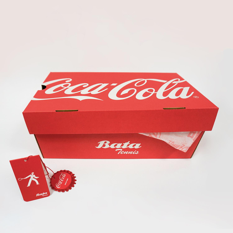 Červené dámské tenisky s Coca-Cola potiskem