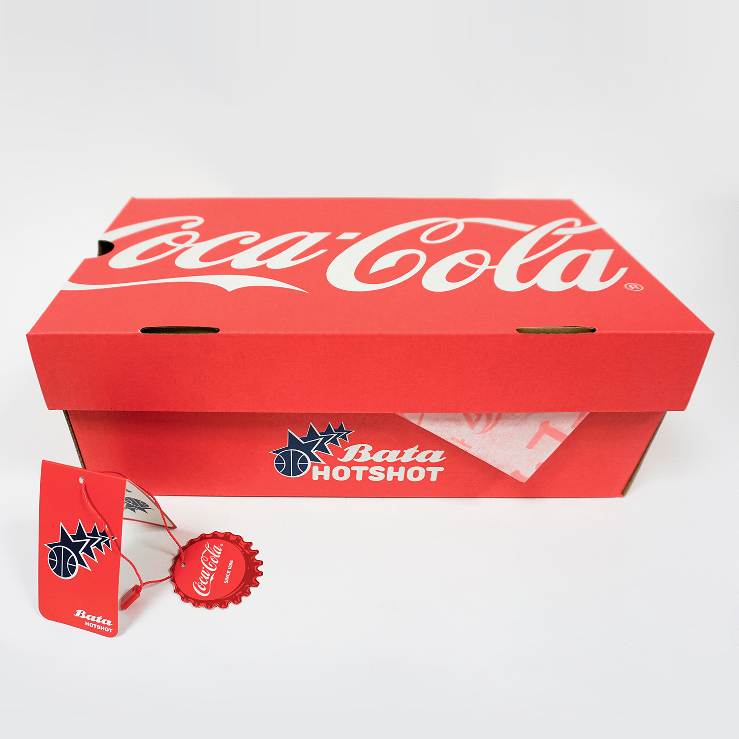 Červené dámské Coca-Cola tenisky s potiskem