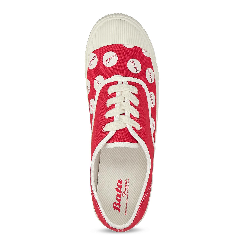 Červené pánské tenisky s Coca-Cola potiskem