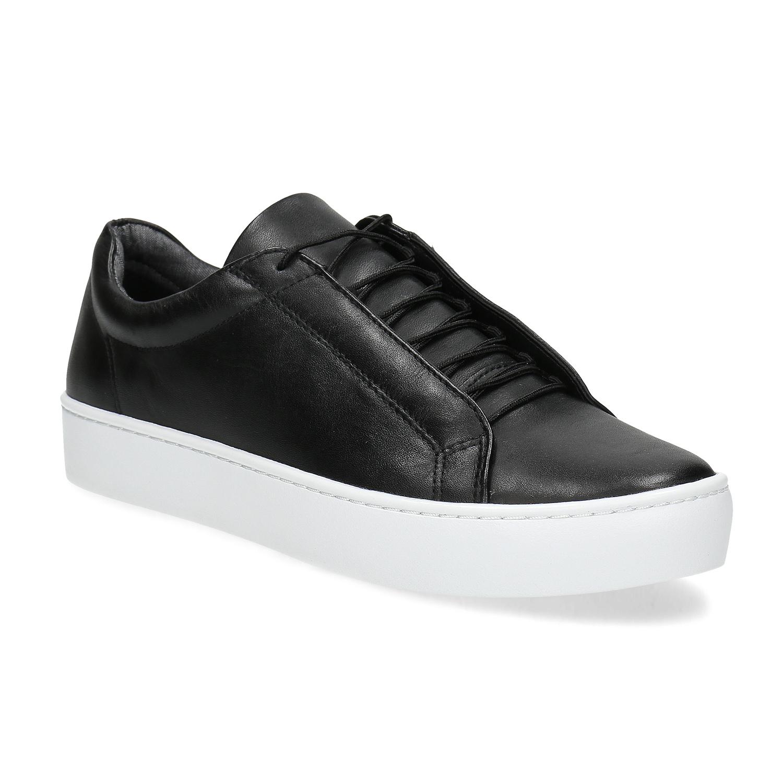 Černé kožené tenisky