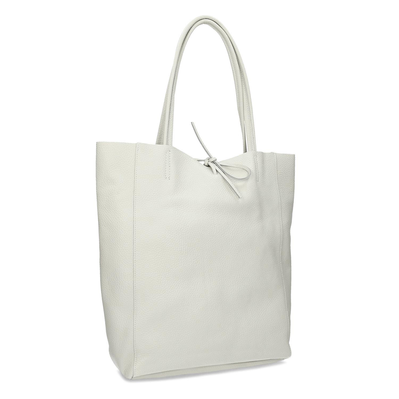 Biela kožená kabelka