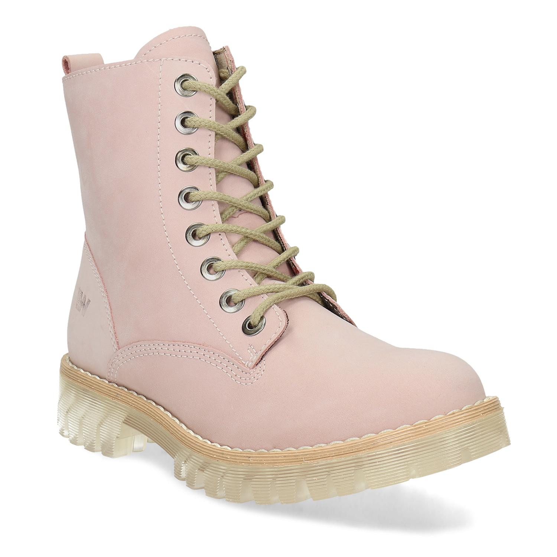 Členkové dámske topánky ružové