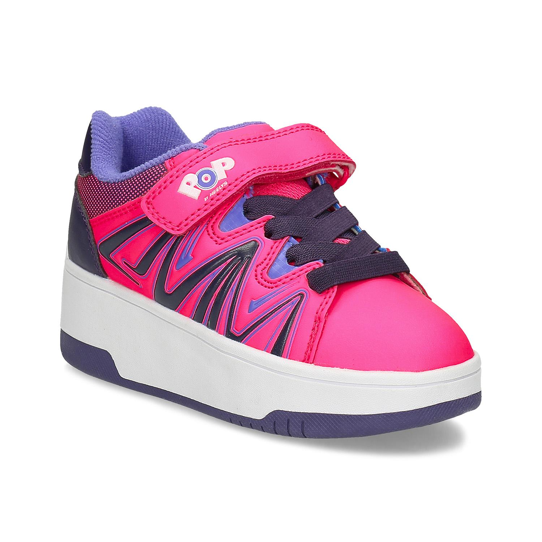 Ružové detské tenisky na kolieskach