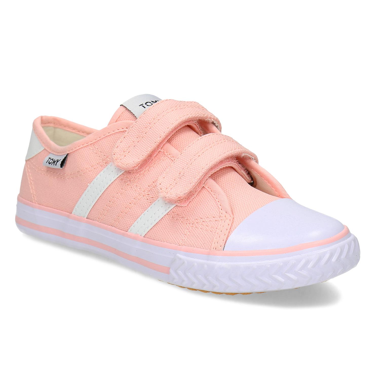Detské ružové tenisky so suchým zipsom