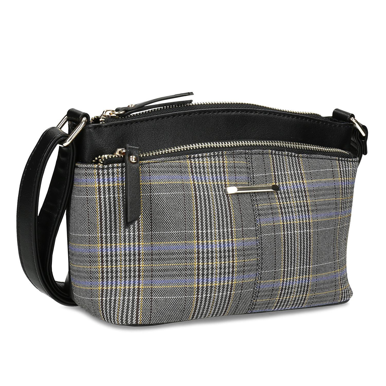 Čierna dámska Crossbody kabelka so vzorom