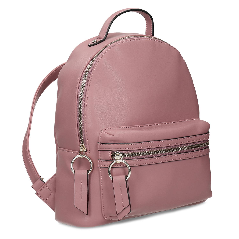 Dámsky ružový batoh s predným vreckom