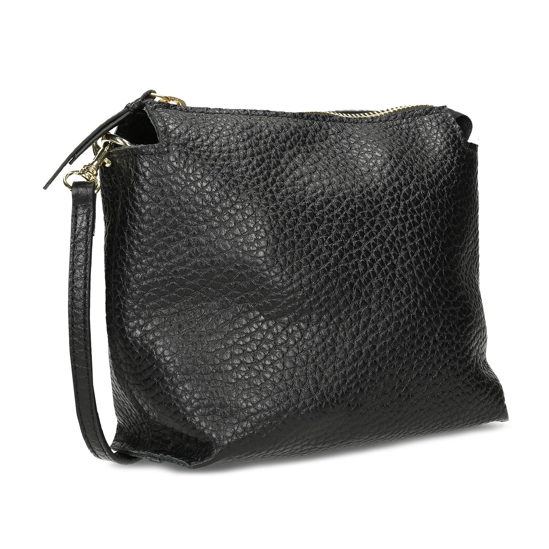 Malá čierna kožená kabelka