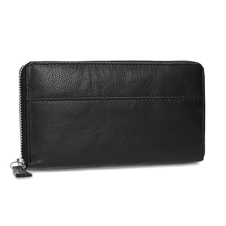 Kožená čierna dámska peňaženka
