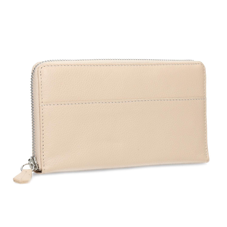 Dámska béžová kožená peňaženka