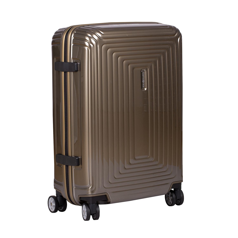 Zlatý kvalitný škrupinový kufor