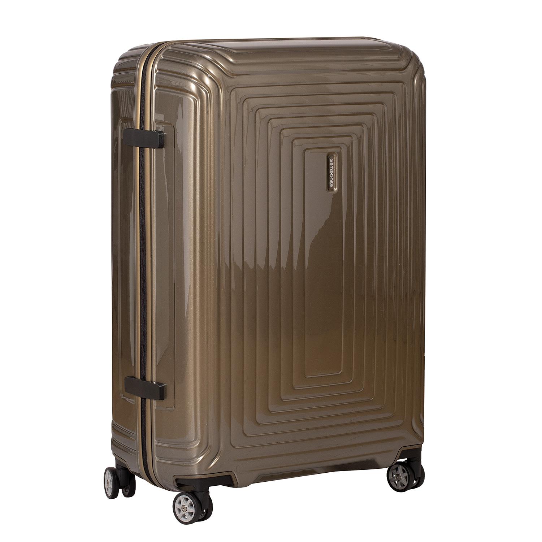 Cestovný zlatý škrupinový kufor