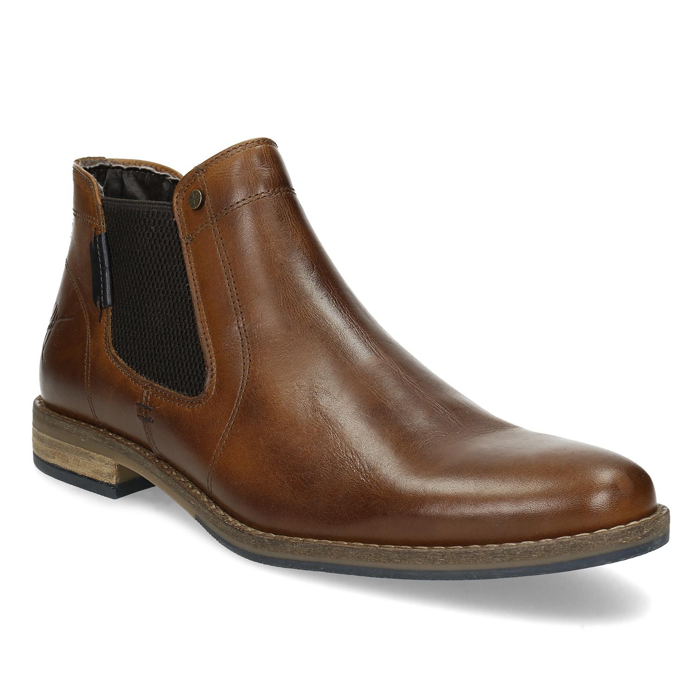 Pánska hnedá kožená Chelsea obuv