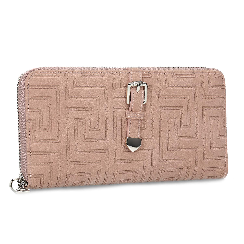 Ružová dámska peňaženka s prackou