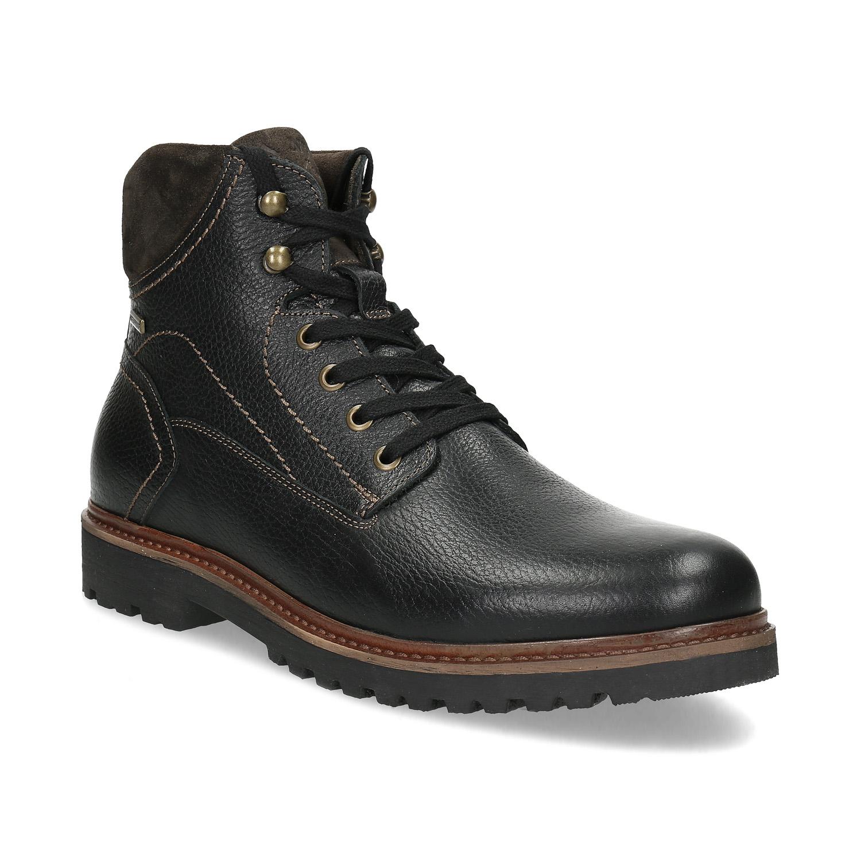 Ćlenková pánska kožená zimná obuv