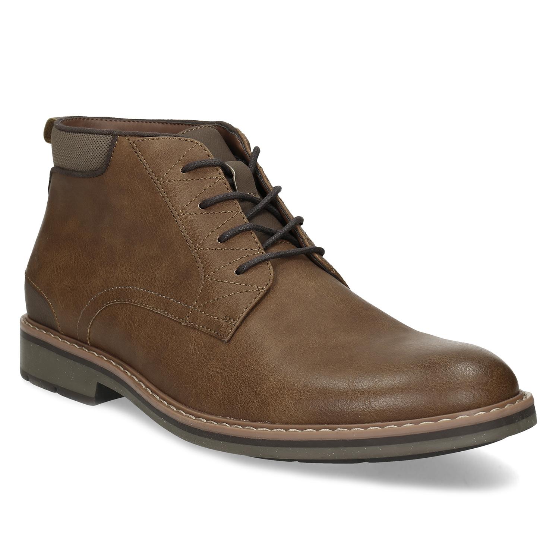 Členková pánska hnedá obuv