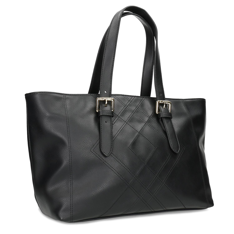 Čierna dámska kabelka s prackami