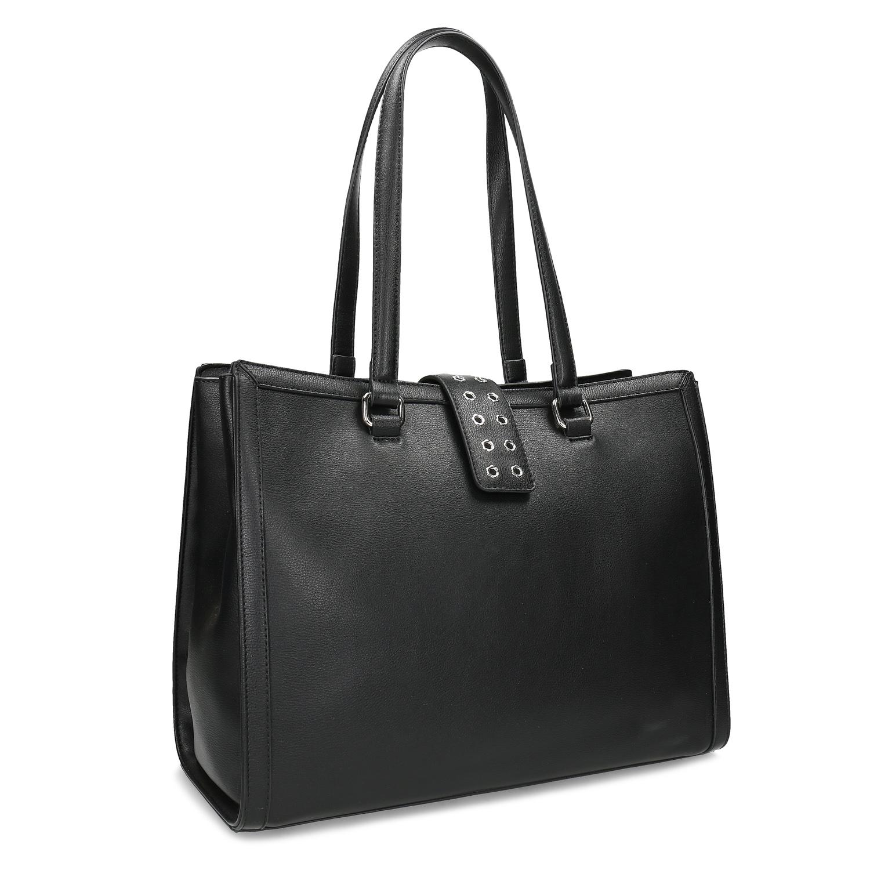 Čierna dámska kabelka s cvočkami
