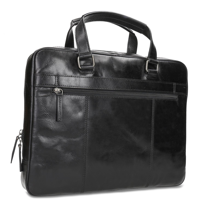 Čierna kožená pánska taška