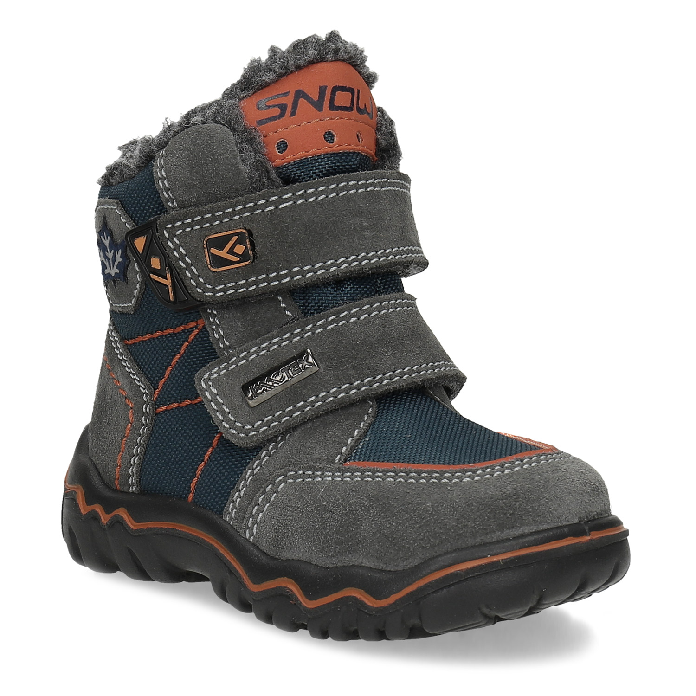 Detská kožená zimná obuv na suché zipsy
