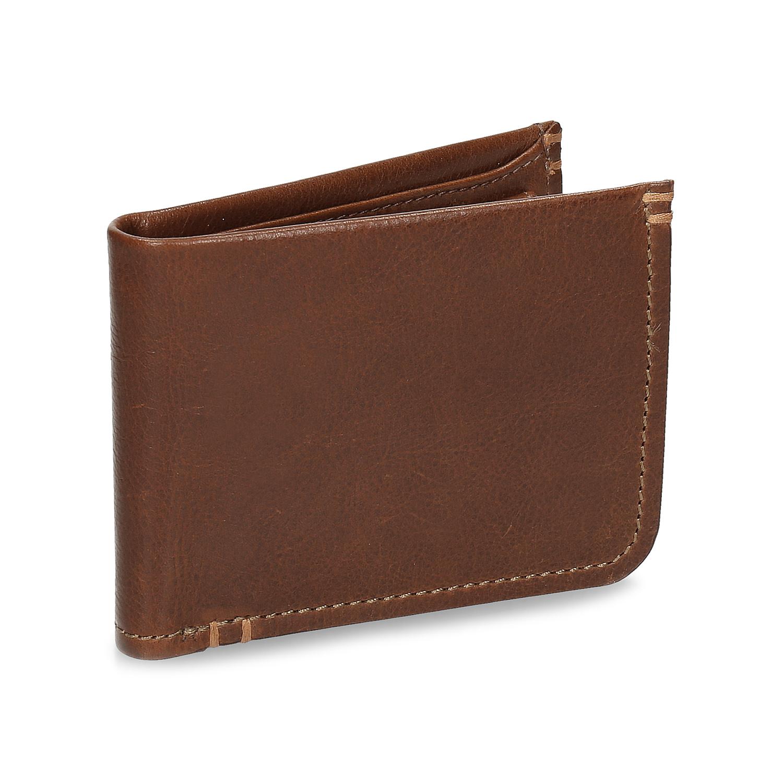 Pánska hnedá kožená peňaženka