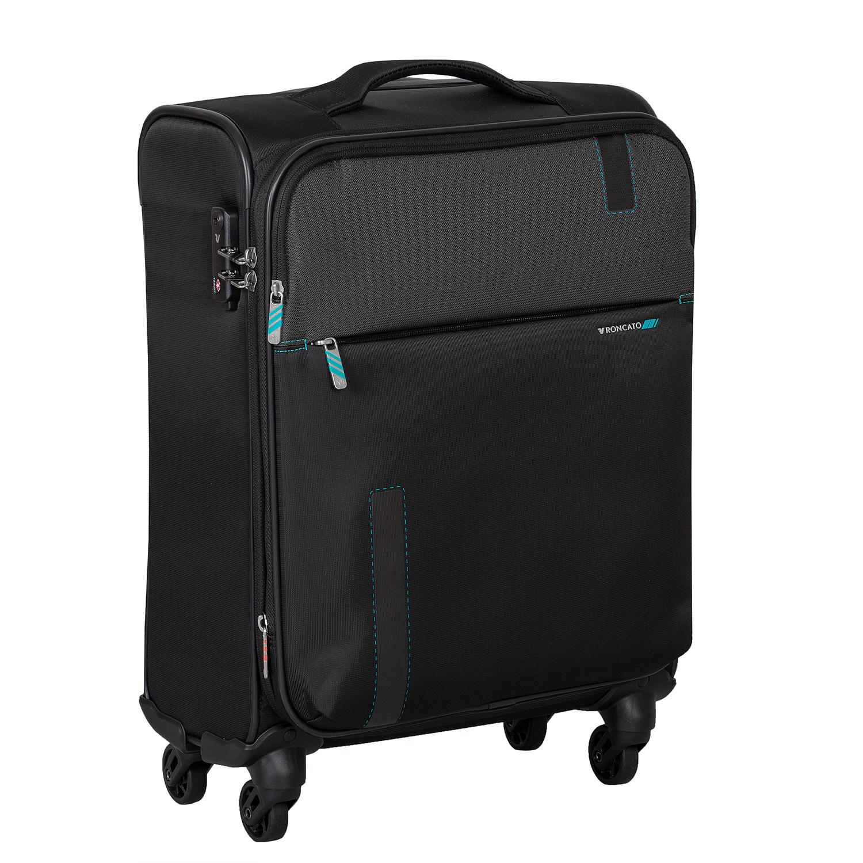 Textilný čierny cestovný kufor