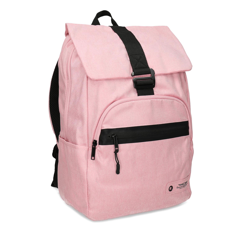 Dámsky ružový batoh s čiernymi detailami