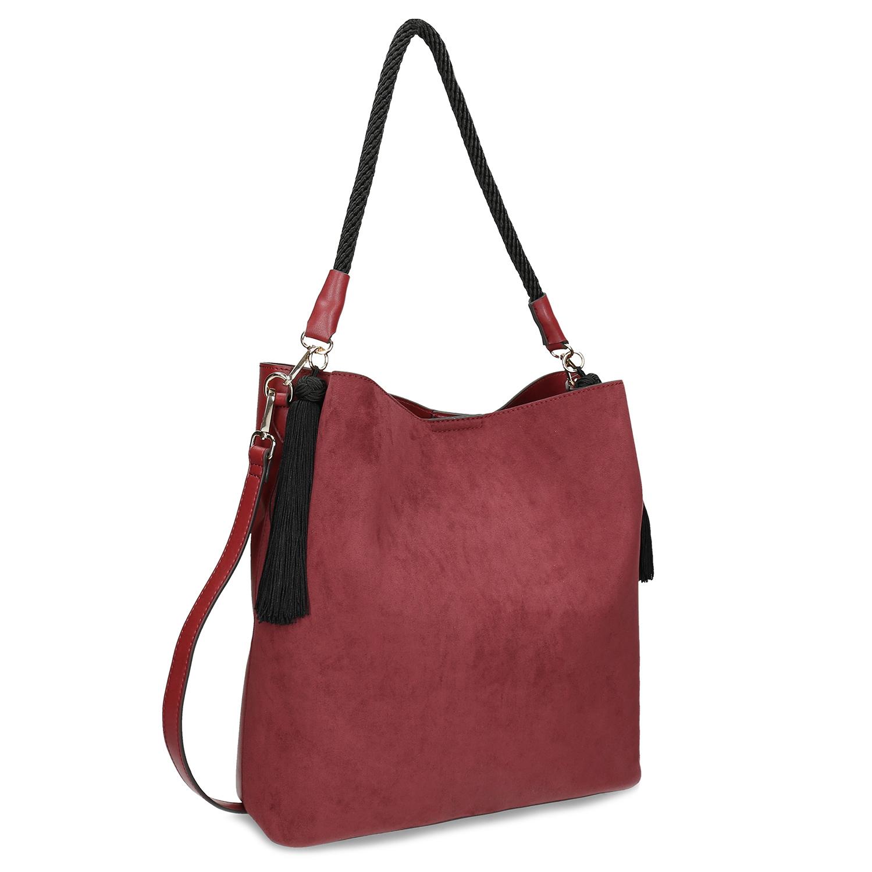 Červená dámska kabelka s popruhom