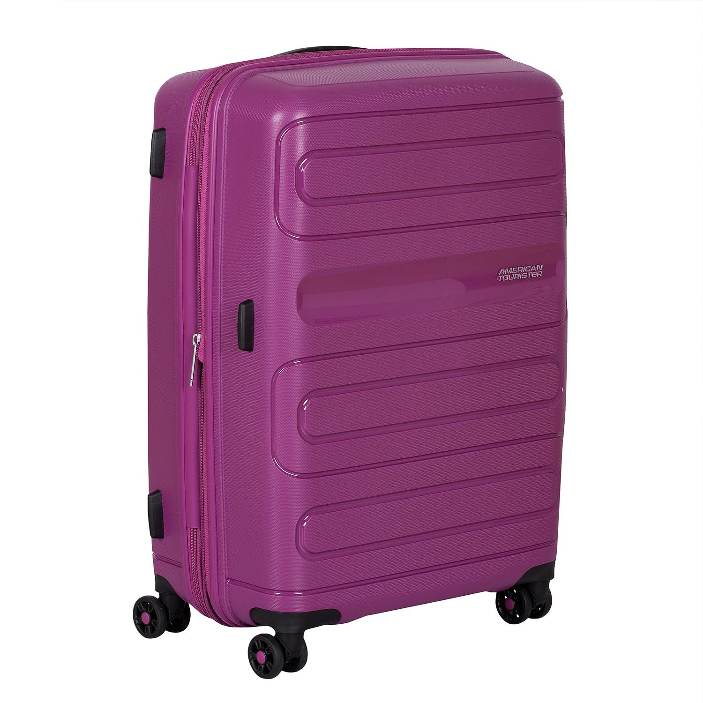 Cestovný škrupinový kufor fialový