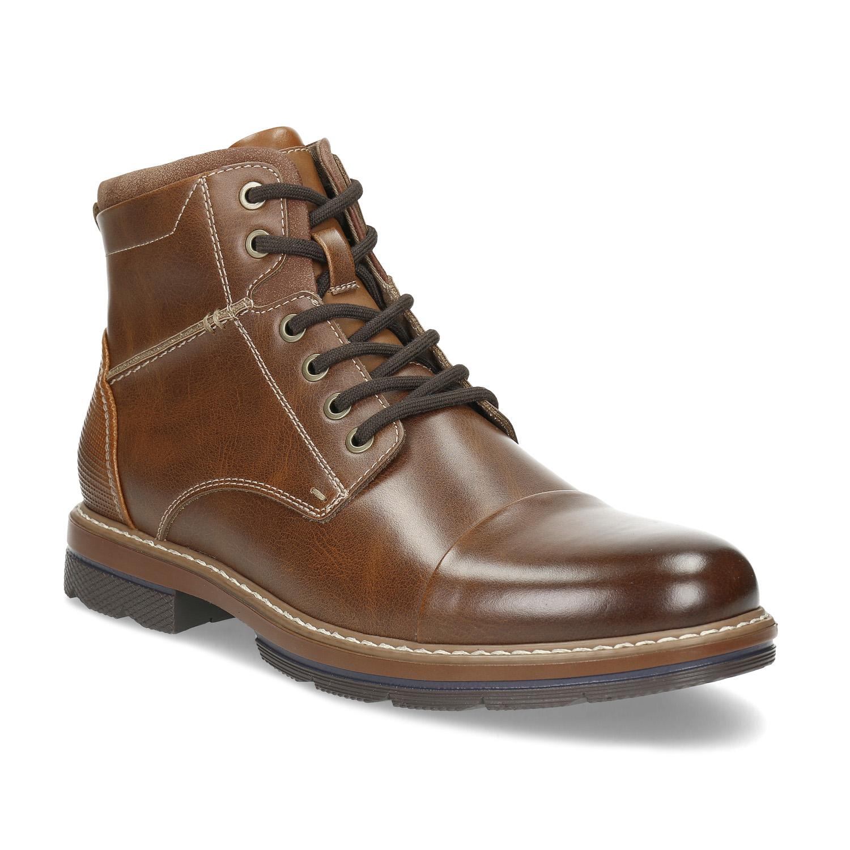 Pánska hnedá členková zimná obuv