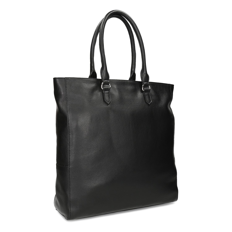 Čierna dámska kožená kabelka