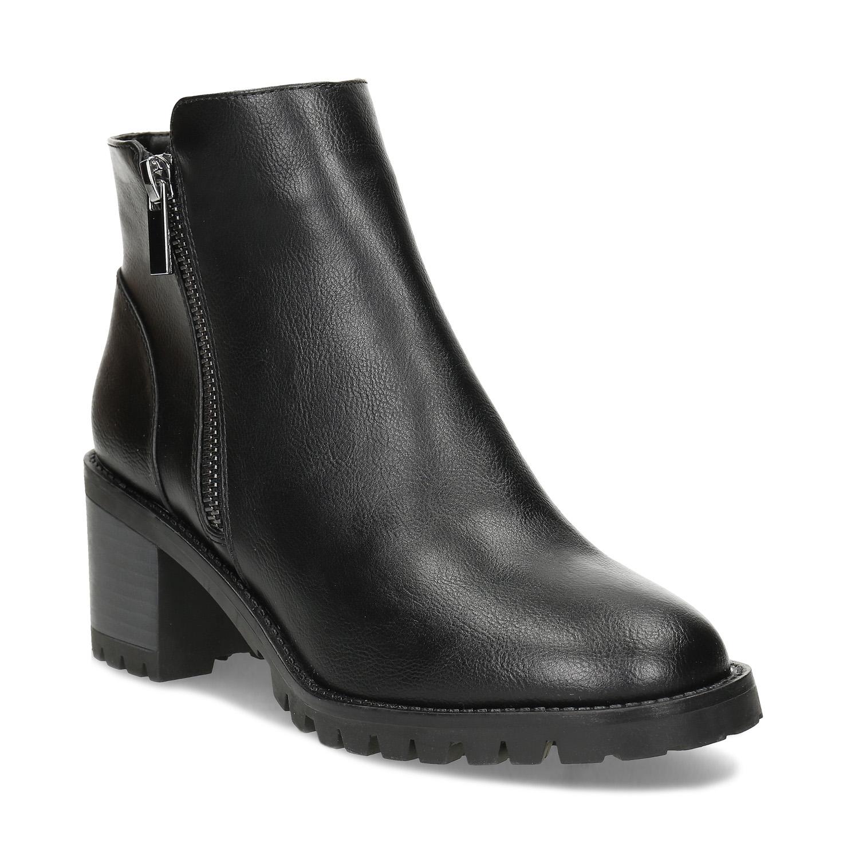 Členkové čierne dámske čižmy