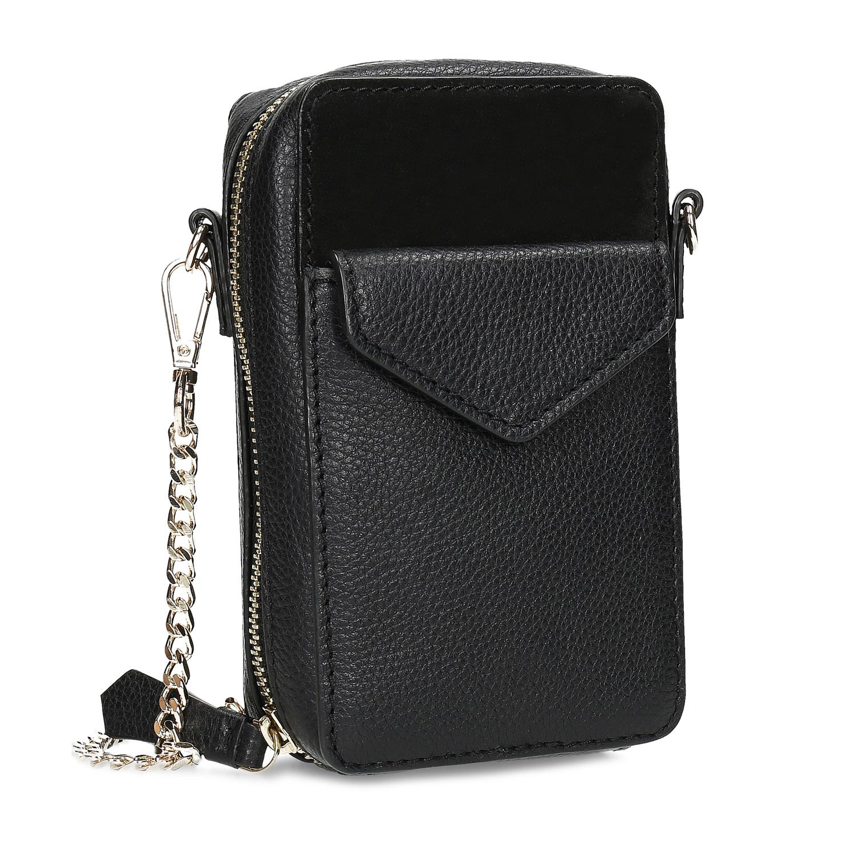 Kožená čierna dámska Crossbody kabelka