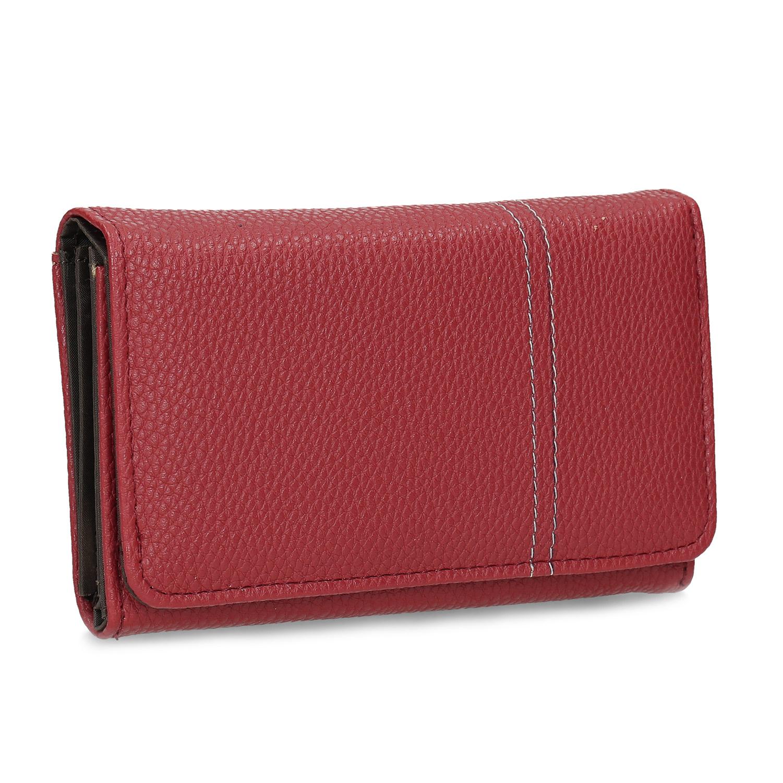 Červená dámska peňaženka s prešitím