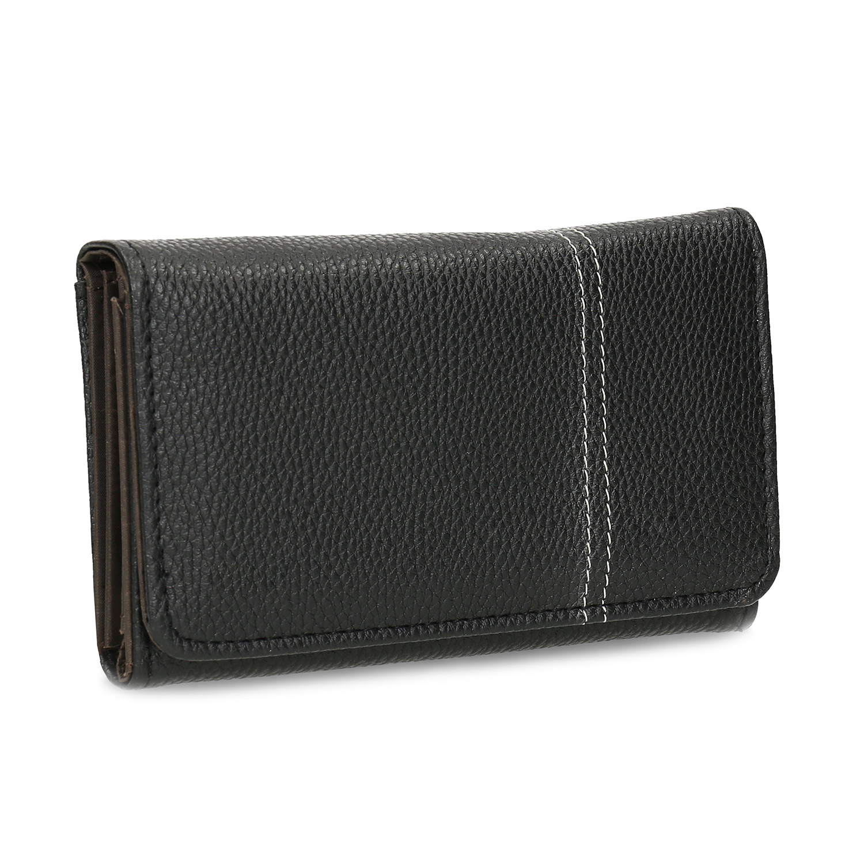 Čierna dámska peňaženka s prešitím