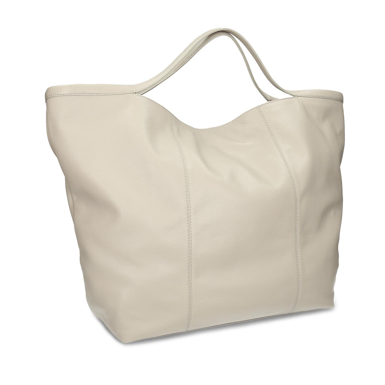 Béžová dámska kožená kabelka