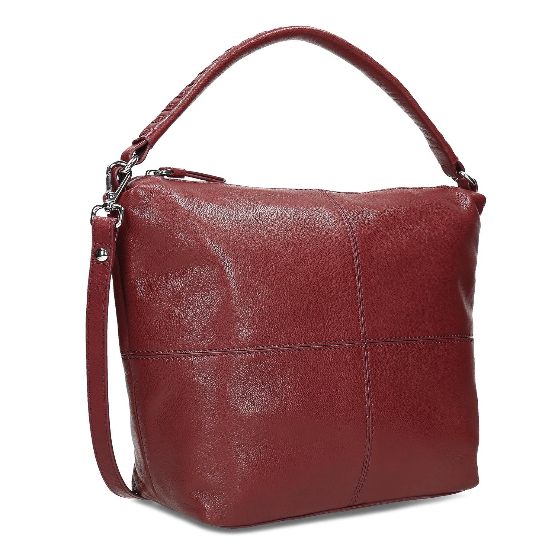 Červená dámska kožená Hobo kabelka