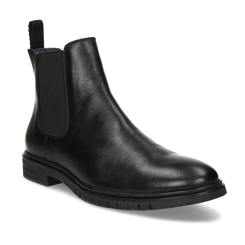 Pánska čierna kožená Chelsea obuv