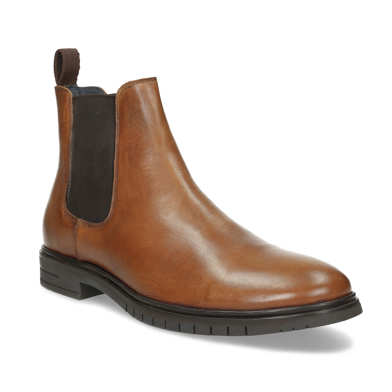Hnedá pánska kožená Chelsea obuv