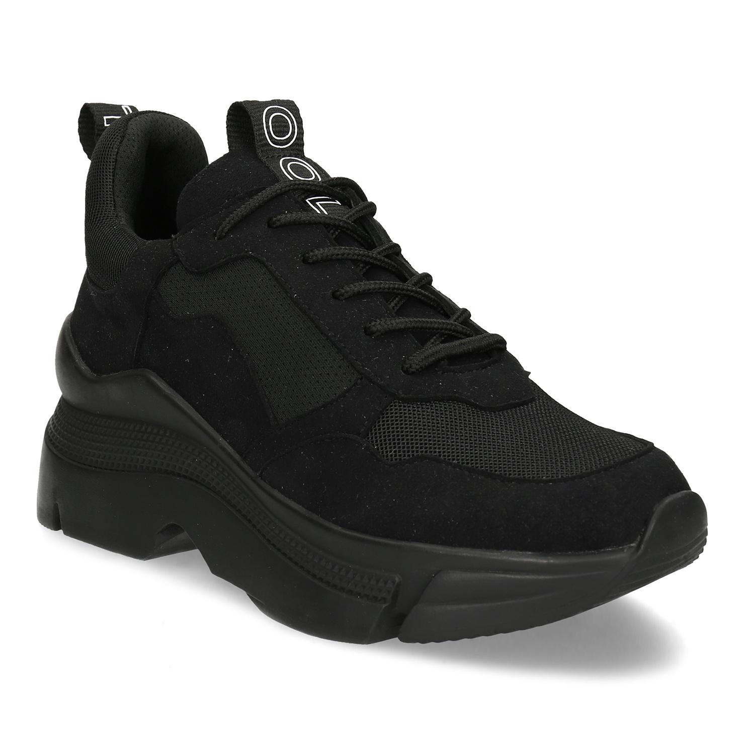 Čierne dámske tenisky v štýle Chunky Sneakers