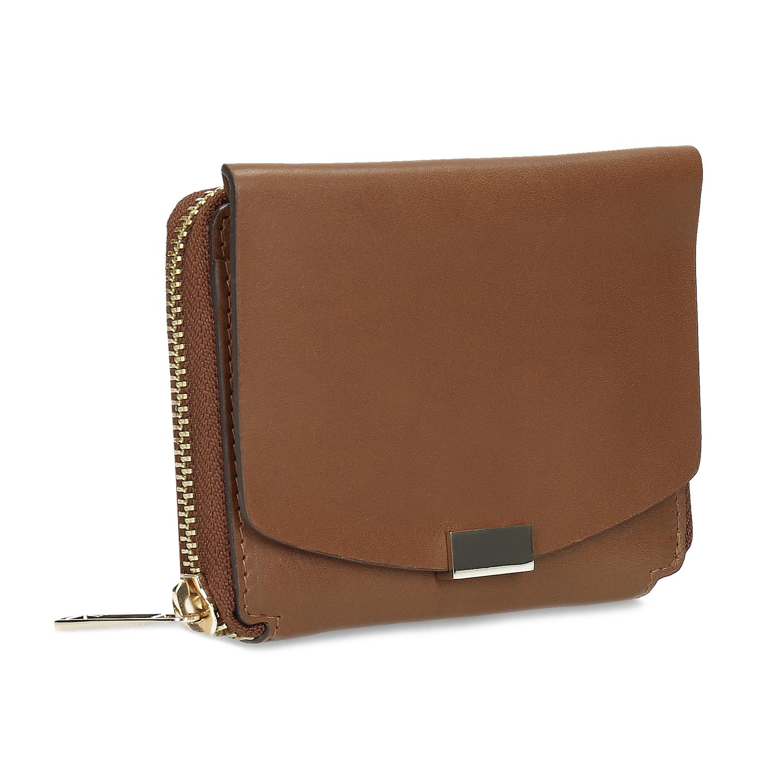 Hnedá dámska kožená peňaženka