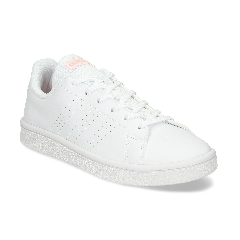 Biele dámske tenisky s perforáciou