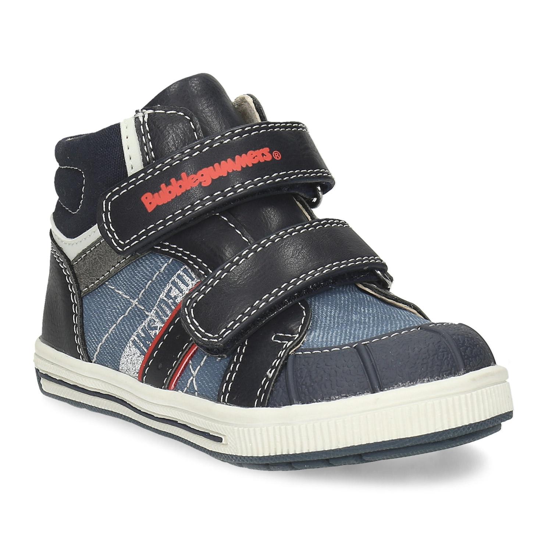 Detská modrá členková obuv