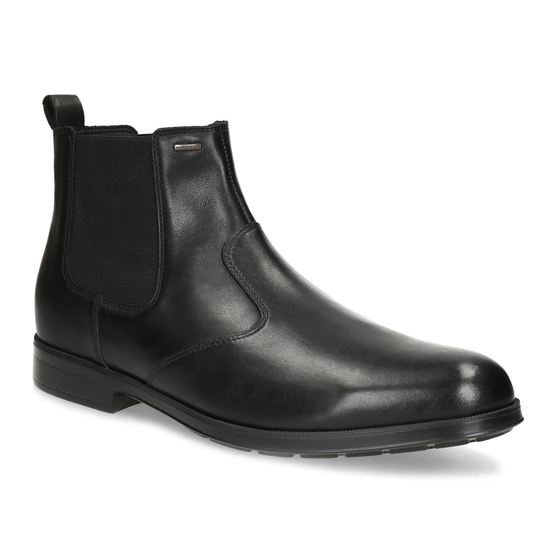 Čierna pánska kožená členková obuv