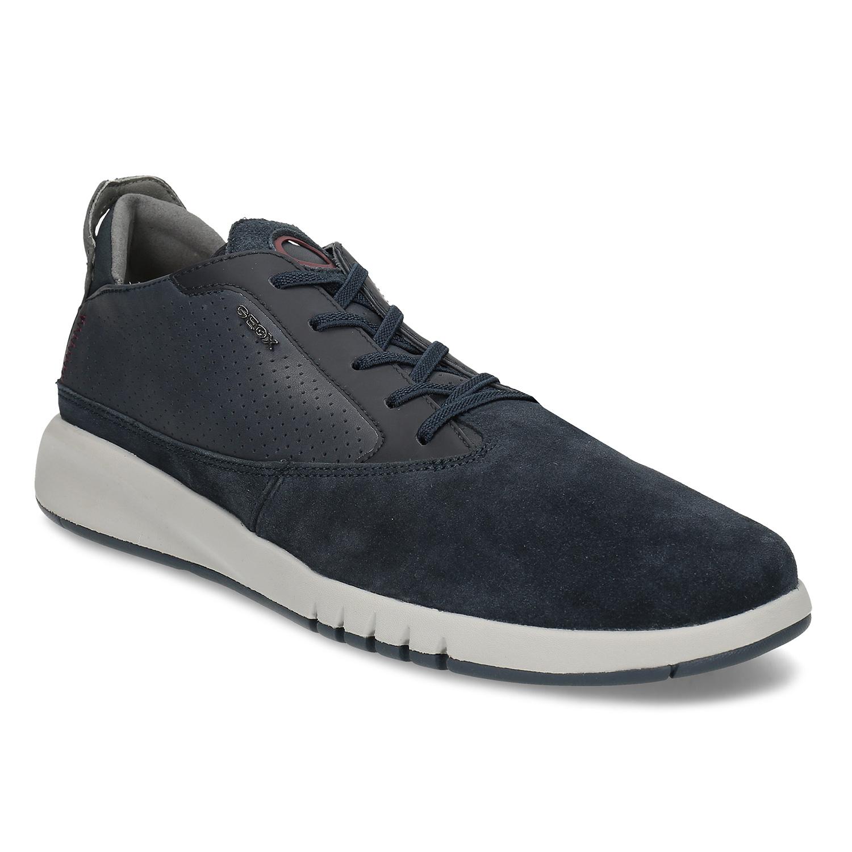 Tmavomodrá pánska kožená obuv