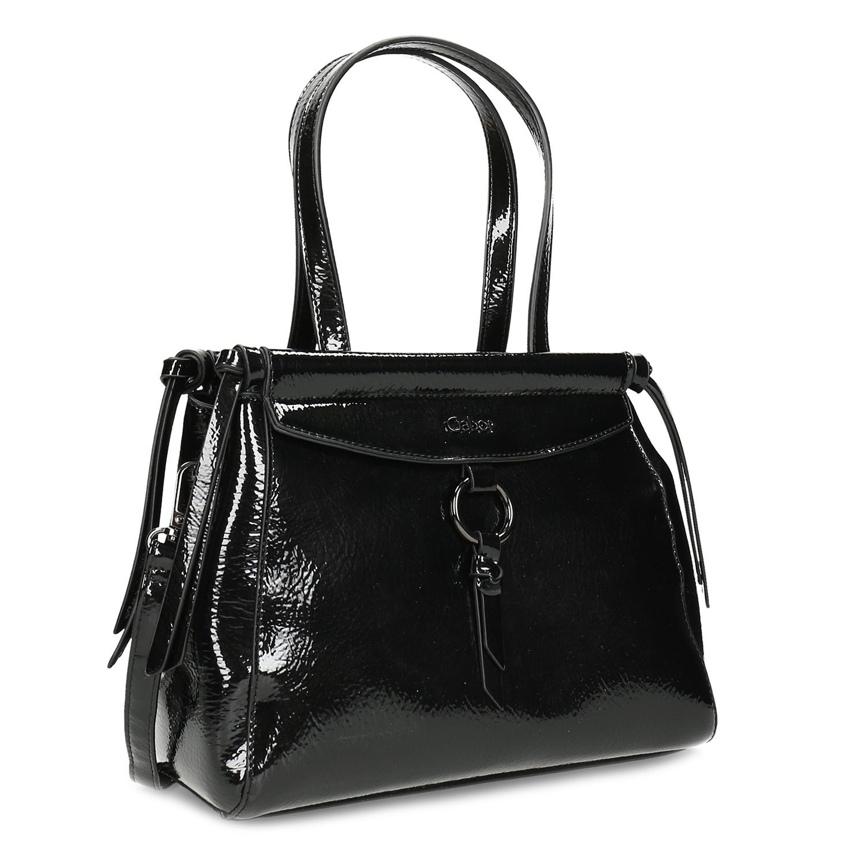 Dámska čierna lesklá kabelka