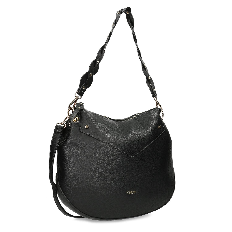 Čierna dámska kabelka s popruhom