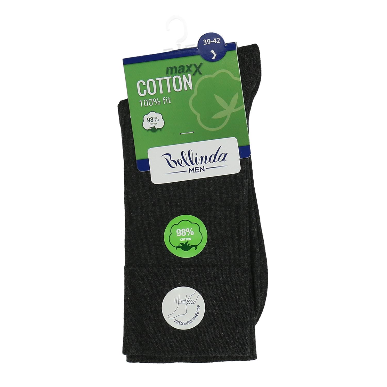 Tmavošedé pánske bavlnené ponožky