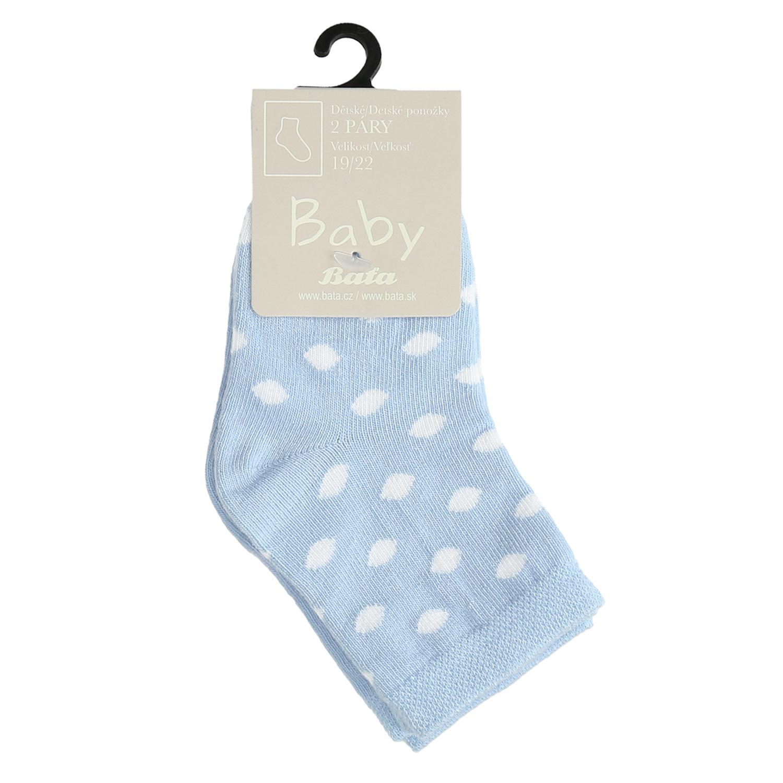 Modré detské ponožky s bodkami