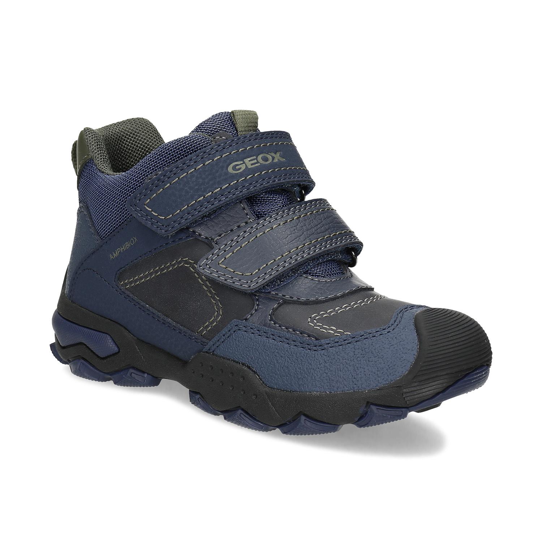 Modrá detská členková zimná obuv