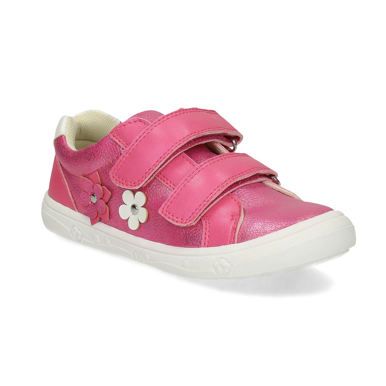 Ružové detské tenisky na suchý zips